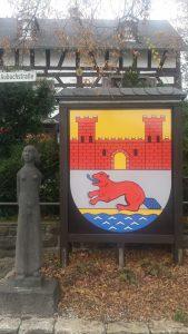 """Wappen an der """"Scharf Eck"""""""